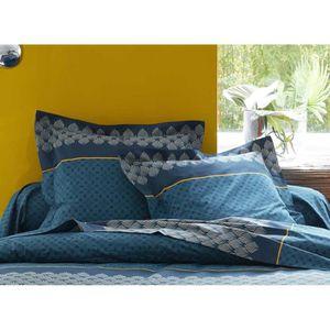 PARURE DE DRAP Parure de Draps 4 pièces Art Déco Bleu DP 240 + DH