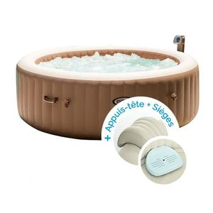 SPA COMPLET - KIT SPA Spa gonflable Intex PureSpa Bulles 6 personnes + 2