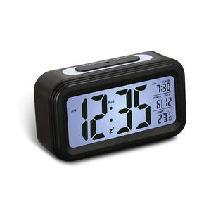 Radio réveil LEEGOAL Réveil numérique multifonction (Noir, ABS,