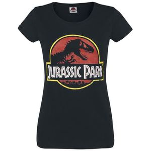 T-SHIRT Jurassic Park Logo T-Shirt Manches courtes noir
