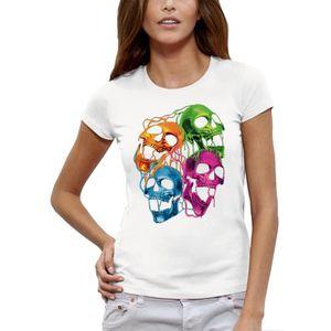 T-SHIRT T-shirt CRANES FLUORESCENTS - PIXEL EVOLUTION - Fe
