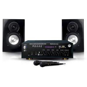 CAISSON DE BASSE My Karaoké 150W Enceintes & Amplificateur & 2 Mics