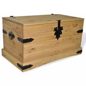 COFFRE - MALLE Coffre de rangement boîte de rangement 91x49,5x47