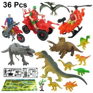 FIGURINE - PERSONNAGE 44pcs Miniature Simulation Jurassic Park Jurassic