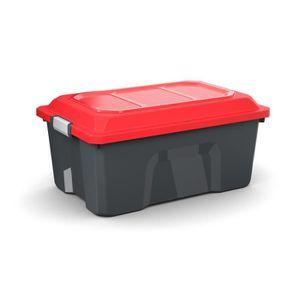 COFFRE - MALLE Malle de rangement, 40L noir/rouge Locker - SUNDIS