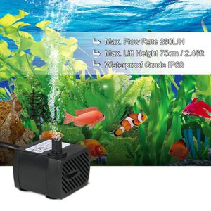 FILTRATION - POMPE 4W 280L / H  Pompe à eau submersible Mini fontaine