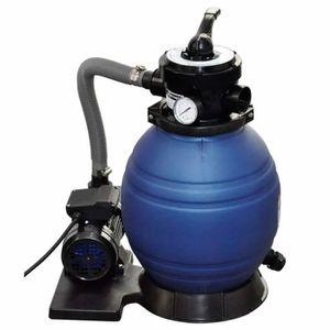 POMPE - FILTRATION  Pompe à filtre à sable 400 W 11000 l/h Bleu