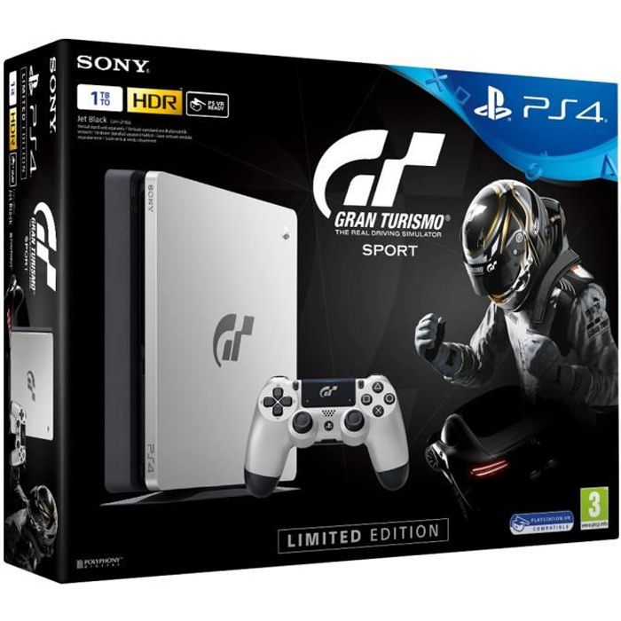nouvelle ps4 silver 1to edition limit e gran turismo sport qui es tu jeu playlink. Black Bedroom Furniture Sets. Home Design Ideas