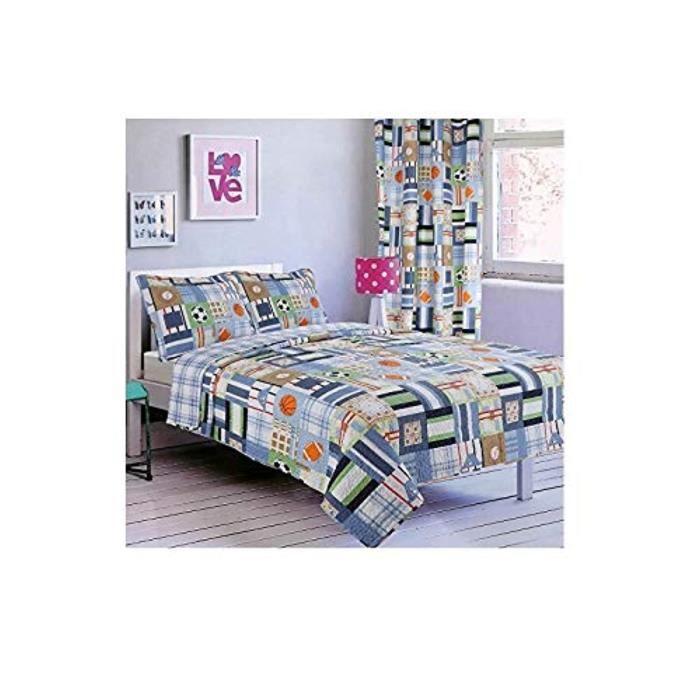Jetee De Lit - Boutis - Couvre-Lit YZWKU Nouveau couvre-lit imprimé 2pc taille double avec rideau assorti (6 PC BEDSPREAD W - RIDE S
