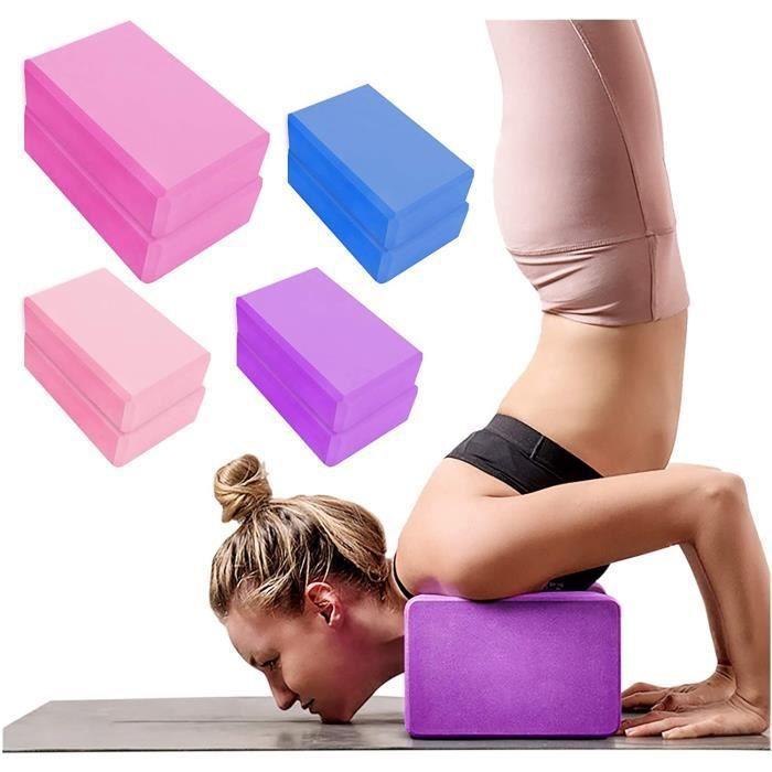 Stillcool® 2 PCS briques de yoga, Tapis de yogo,briques en mousse EVA haute densité,briques d'exercice,adaptées au yoga,Pilates,médi