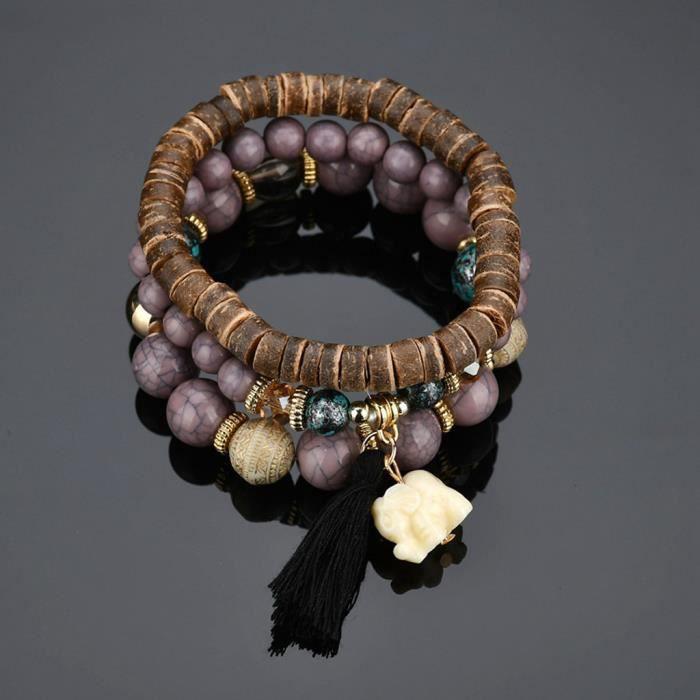 BRACELET - GOURMETTE - JONC Bijoux Perles Femmes Hommes Cristal Charme Bracelets Multicouches Bracelets De Bonbons Couleur