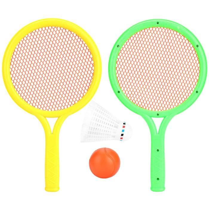 Raquette de Tennis pour Enfants, Ensemble de Raquette de Tennis pour bébé Raquette de Tennis de Badminton en Plein air intérieur333