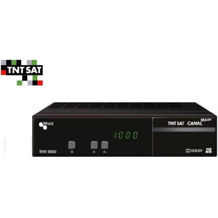 TERMINAL RÉCEPTEUR SATELLITE ASTRA TRIAX THR9900 TNTSAT(VENDU SEUL SANS CARTE ET HDMI !)
