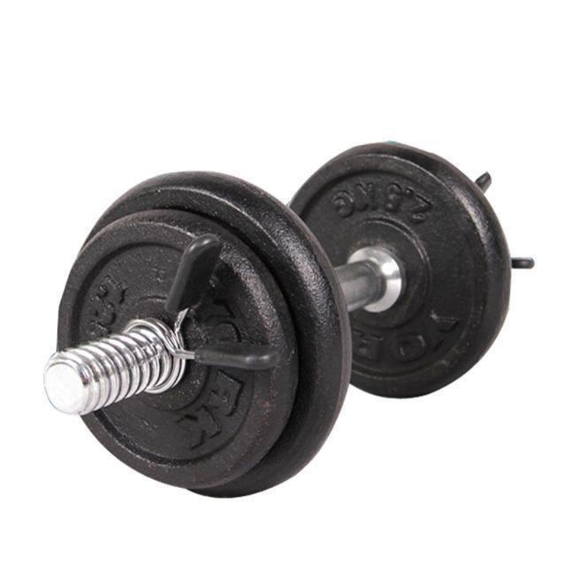 yumyumis® 2pcs 25 mm Barbell Gym Poids barre haltère verrouillage les colliers de serrage de collier ressort Noir_3388