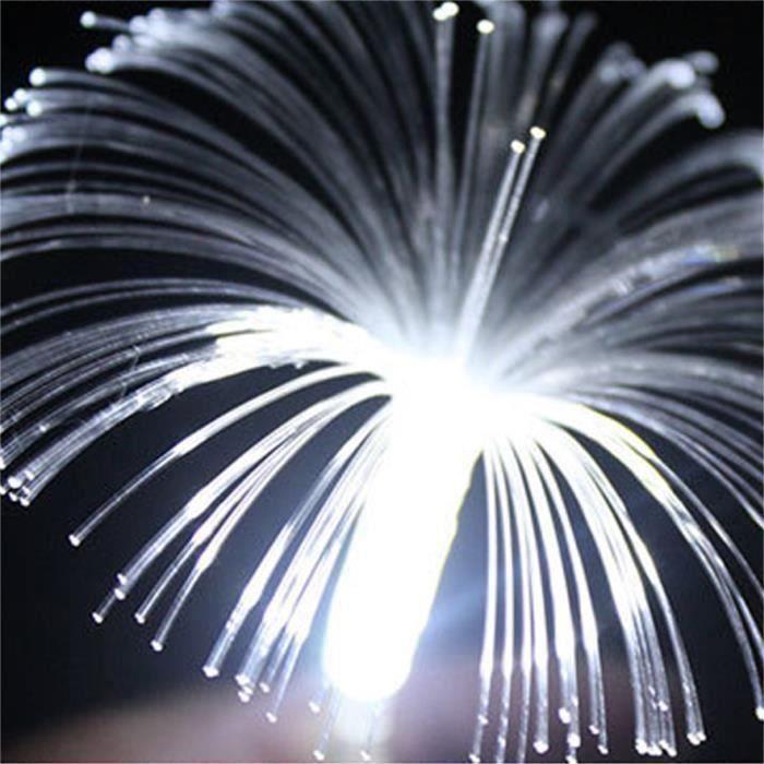 10LED Fibre Optique Guirlande lumineuse Lampe à énergie solaire LED Lumière de gypsophila Décor Lampe de Noël - lumière blanche