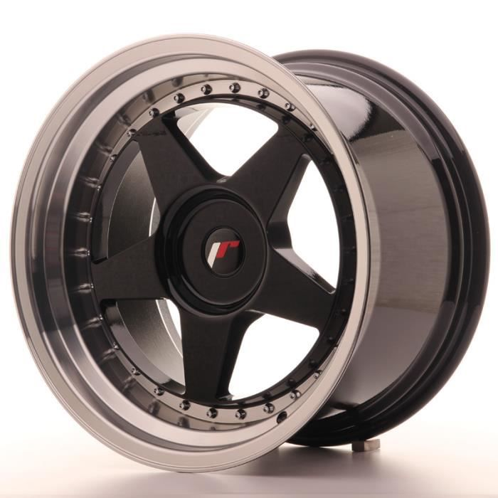 Jante Alu 18- Japan Racing JR6 18x10,5 ET0-25 Blank Glossy Black