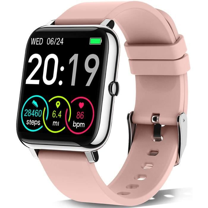 Motast Montre Connectée Femmes Homme, Smartwatch Vibrante pour Appel SMS Message Montre Intelligente Cardio Etanche IP67 Trackers d'