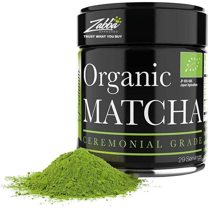 Matcha Cérémonial – Poudre de Thé Vert Matcha Bio - 28g – La Plus Haute Qualité de Matcha Japonais – Idéal pour Détox et Vitalité –
