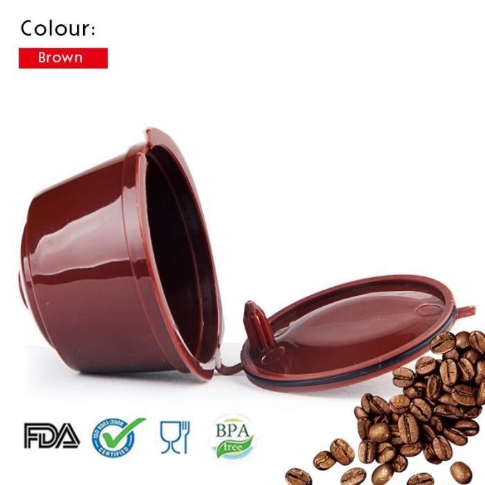 Café Filtres,Dosettes à café Dolce Gusto café rechargeable pour Compatible pour Nescafe Dolce Gusto Multicap - Type Brown 1pc