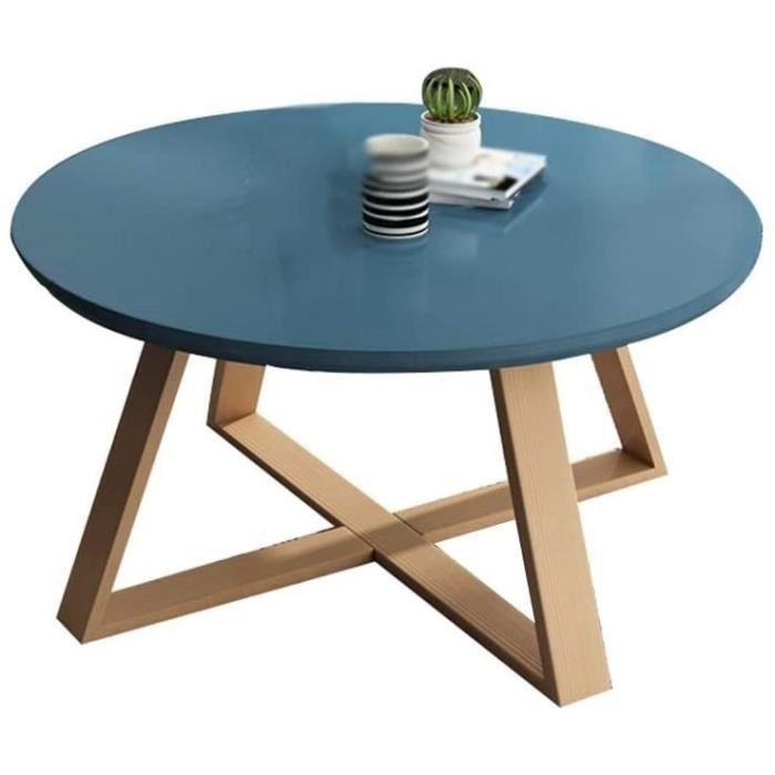 C-J-Xin Tables en Bois MassifFin Balcon Simple Petite Table Ronde Meubles de Salon Tables Sofa Hôtel Appartement Tables Basses 893
