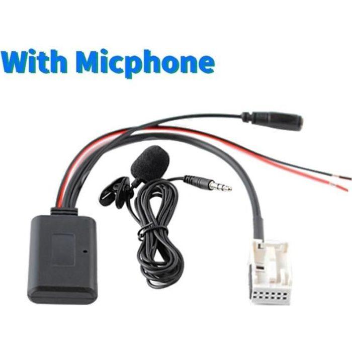 Pièces Auto,12Pin Bluetooth Module sans fil autoradio stéréo musique Aux câble adaptateur pour Peugeot 207 Citroen - Type A