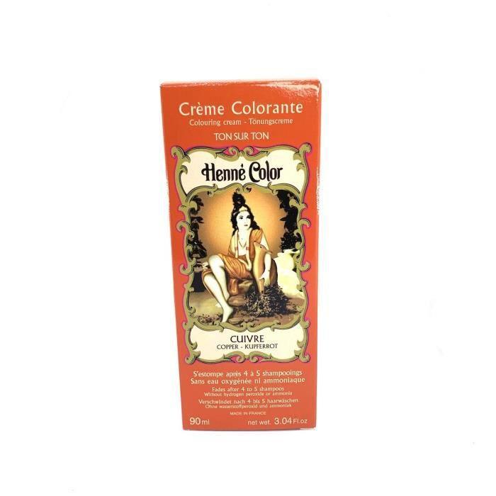 Crème Colorante au Henné Cuivre 90ml