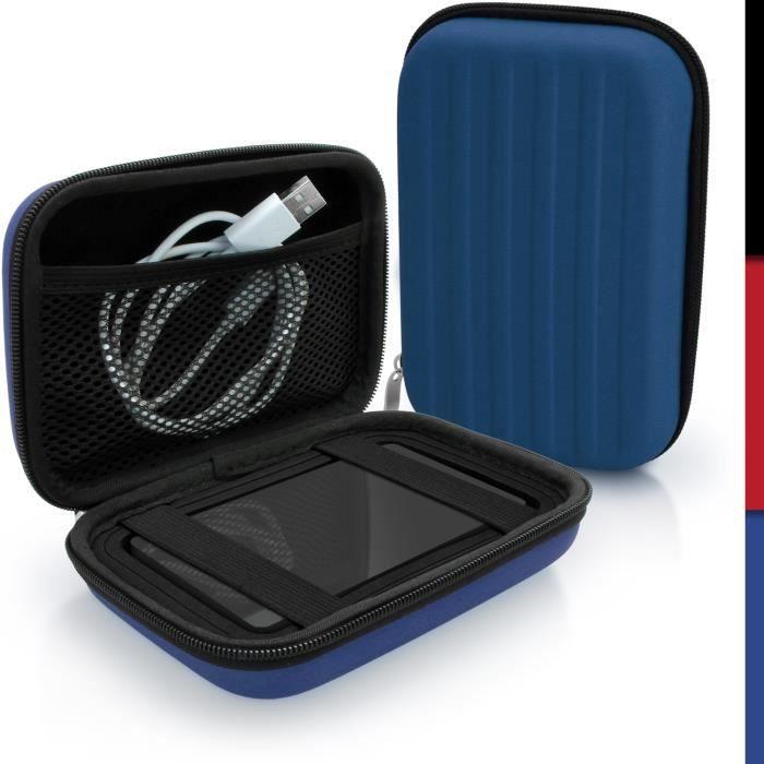 igadgitz Bleu EVA Étui Housse Rigide pour Western Digital My Passport Studio & Wireless Disque Dur Externe Portable Case Cover