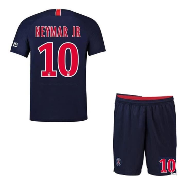 NEYMAR JR France Paris Champ d'accueil Jersey Maillot et Shorts de football Homme/Enfant -Bleu