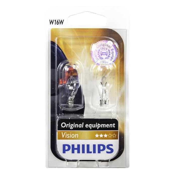 PHILIPS Ampoule Vision 2 W16W 12V