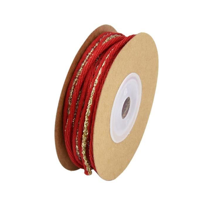 10 mètres ruban corde durable décoratif pratique créatif léger cadeau pour Noël