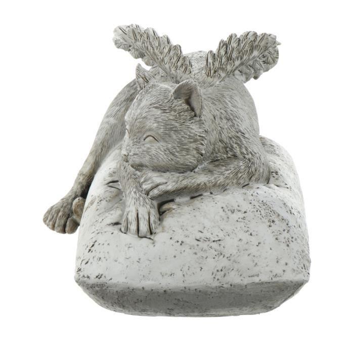 1pc Vivid Sleeve Statue Memorial Chat Angel animal de compagnie pour jardin statue - statuette - ceramique decoration du jardin