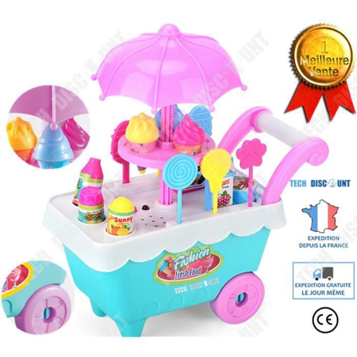 TD® jouet enfant garçons filles chariot creme glacée commercant jeu de role anniversaire educatif interieur aliments exterieur