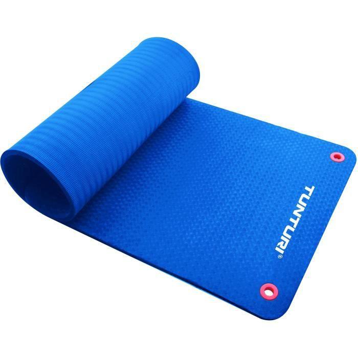 TUNTURI Matelas tapis fitness Pro 180cm bleu