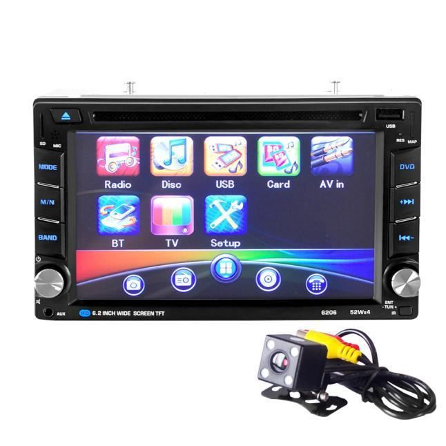 6.5 Double 2din Tactile Voiture Stéréo Cd Lecteur Dvd Bluetooth Usb Sd Am Fm Radio Tv Tzz60706664_118