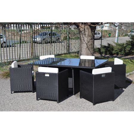 ensemble repas de jardin en r sine tress e hb2 achat vente salon de jardin ensemble repas. Black Bedroom Furniture Sets. Home Design Ideas