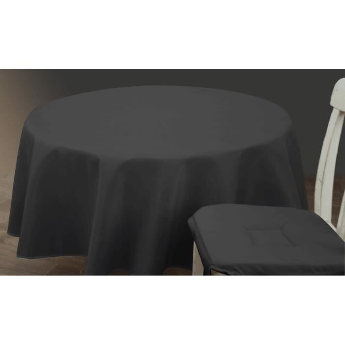 nappe anti tache 150x300 cm unie noire achat vente nappe de table cdiscount. Black Bedroom Furniture Sets. Home Design Ideas