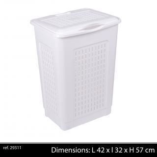 coffre linge blanc 50 litres plastique coffr achat. Black Bedroom Furniture Sets. Home Design Ideas