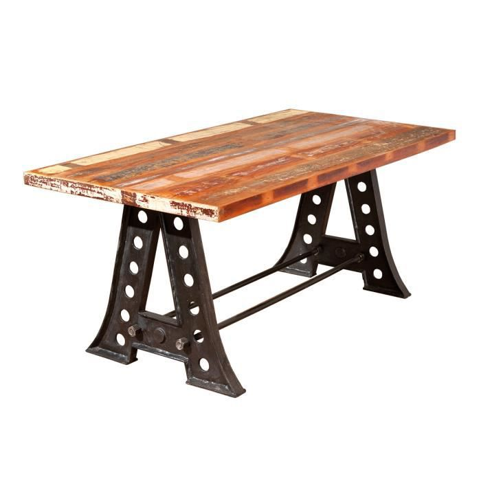 Table manger en bois massif design achat vente table for Table a manger design