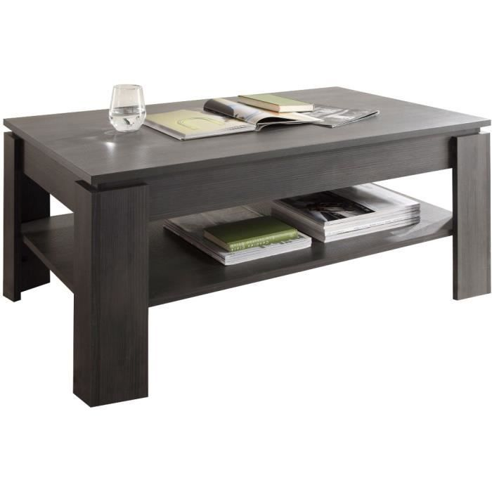 Table basse design coloris gris anthracite achat vente table basse table - Table salon cdiscount ...