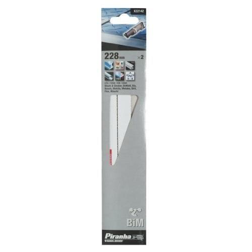 Decker X28110 Piranha Lot de 5 lames pour scie sauteuse Black