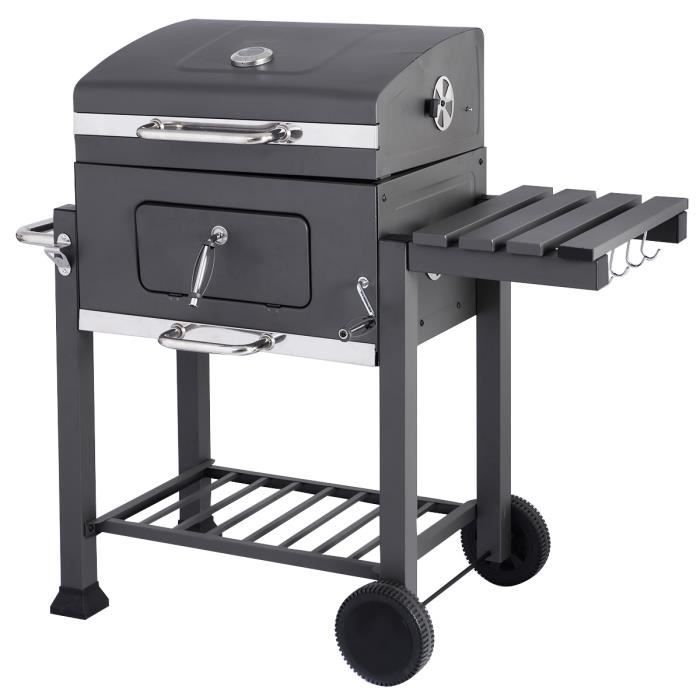 charbon de bois barbecue barbecue grill avec grande surface de cuisson neuf achat vente. Black Bedroom Furniture Sets. Home Design Ideas