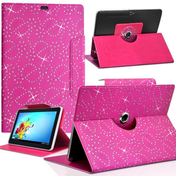 housse etui diamant universel s couleur rose fushia pour tablette samsung galaxy tab 3 lite 7. Black Bedroom Furniture Sets. Home Design Ideas