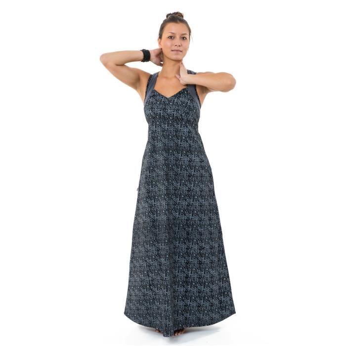 Fantazia Robe Ethnique Longue Robe Longue Originale Princesse Ethnique Noir Gris Alyna Noir Achat Vente Robe Cdiscount