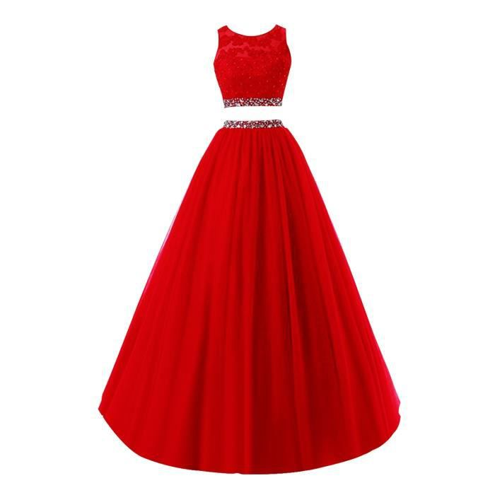 Rouge Ensemble de Robe de Soirée Cocktail
