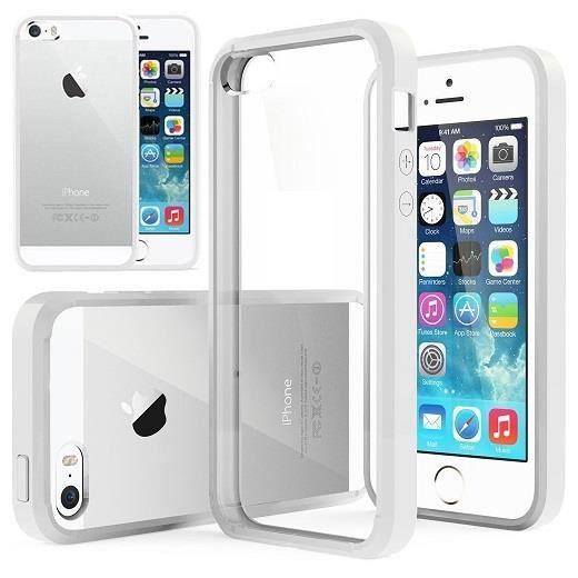 coque transparente iphone 5 5s contour blanc
