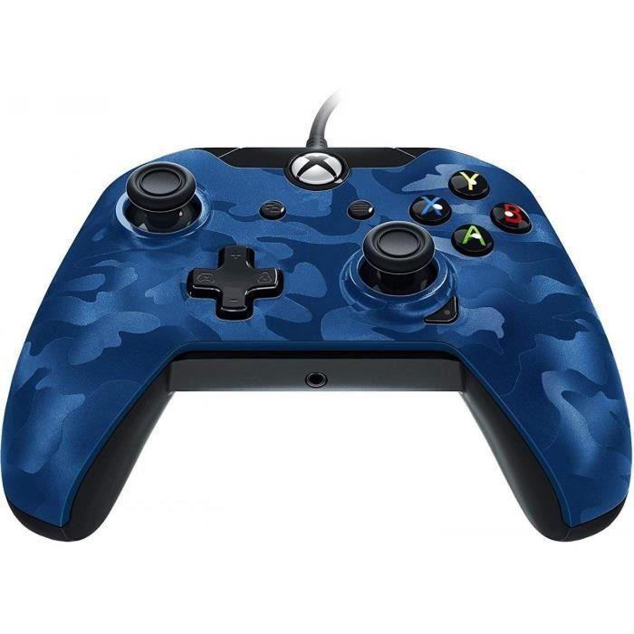 MANETTE JEUX VIDÉO Manette PDP Afterglow Camo bleue V2 pour Xbox One