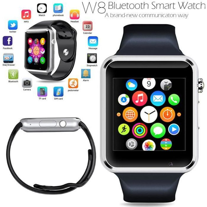 bluetooth 4 0 smartwatch cam ra sim slot noir pour smartphonespaschers. Black Bedroom Furniture Sets. Home Design Ideas