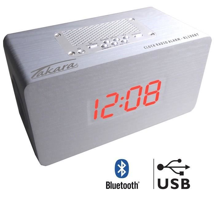 takara kl100btw radio r veil bluetooth usb blanc radio. Black Bedroom Furniture Sets. Home Design Ideas