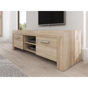meuble tv chene clair achat vente pas cher. Black Bedroom Furniture Sets. Home Design Ideas