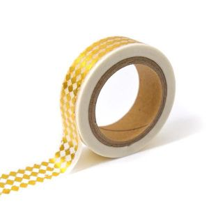 TOGA Masking tape - blanc losanges or - 10m